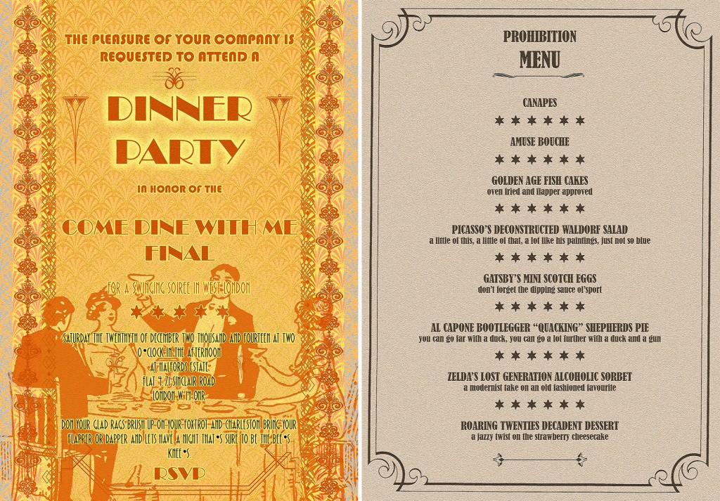 invite n menu