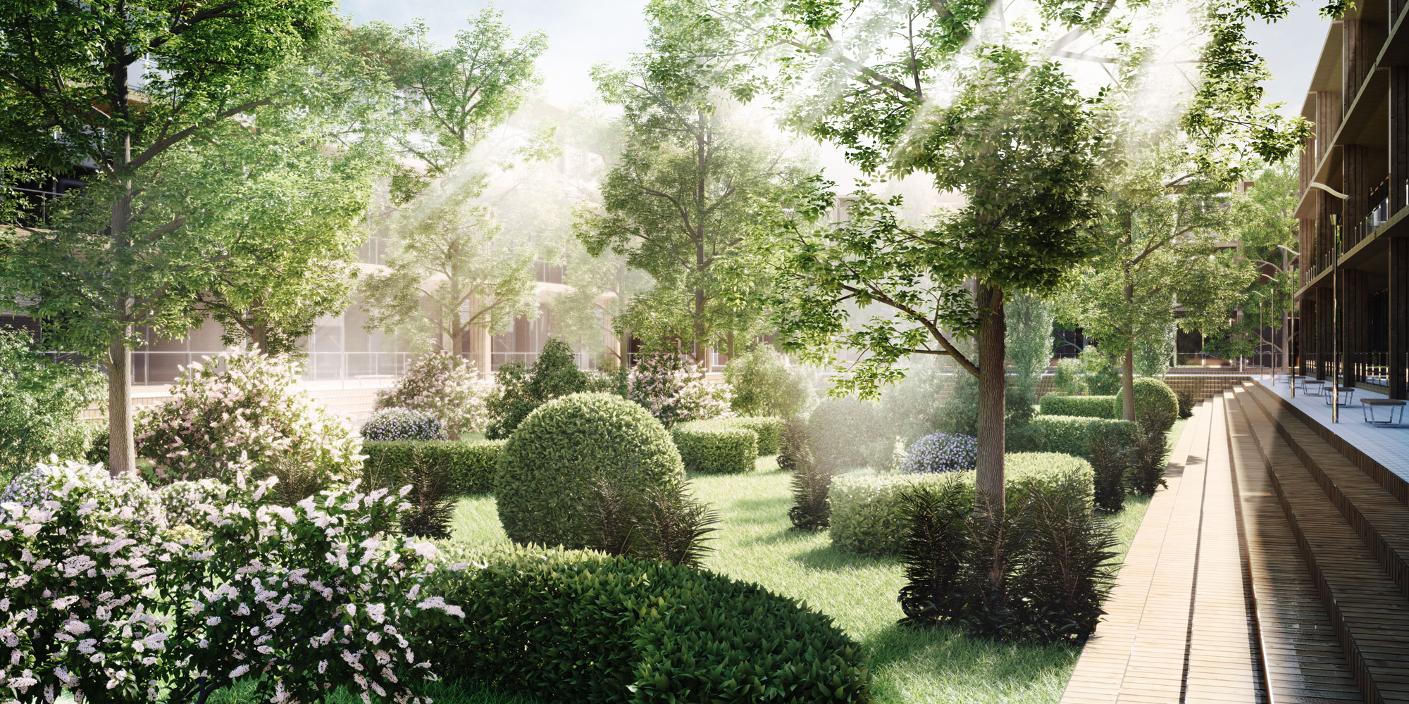 Wonderful Arcadia Gardens. Architectural Visualisation London Arc