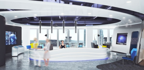 3D visualisation office london cgi