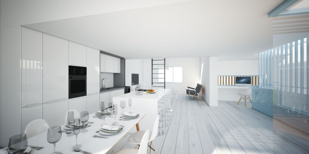 3D visualisation office london cgi